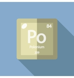Chemical element Polonium Flat vector image
