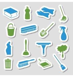 cleaning stickers vector image