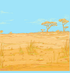 color sketch landscape vector image