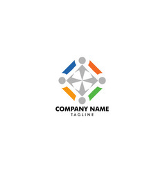 community people logo vector image