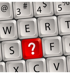 computer keyboard question key vector image vector image