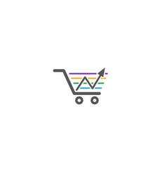 creative cart arrow finance logo vector image