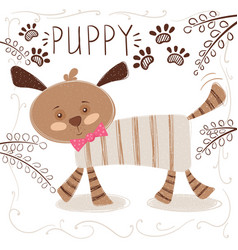 cute funny dog - cartoon vector image