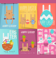 easter posters set vector image