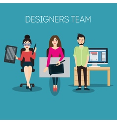 Graphic designer artist with tablet vector
