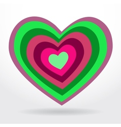Green lilac heart on white background Valentines vector image