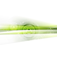 Green technology background with HUD elements vector