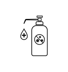 Hand disinfection icon wash and clean dirty hands vector