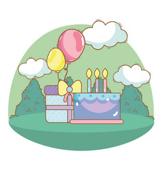 happy birthday cartoons vector image