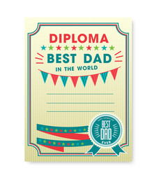 Happy fathers day card vintage retro vector