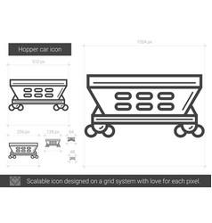 Hopper car line icon vector