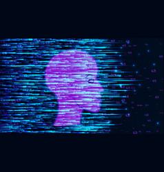 human big data visualization futuristic vector image