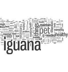 Iguana health vector