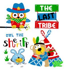 indian best friend cartoon vector image