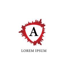 Letter a alphabet logo design template splash of vector