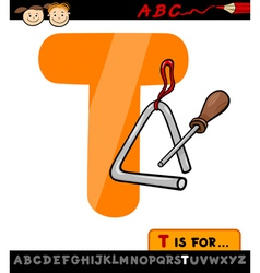 letter t with triangle cartoon vector image