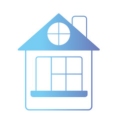 line house with door and window and roof vector image