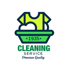 Logo for cleaning company t-shirt and vector