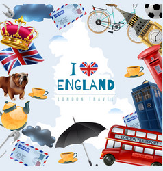 Love england travel background vector