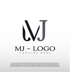 M and j logo design vector