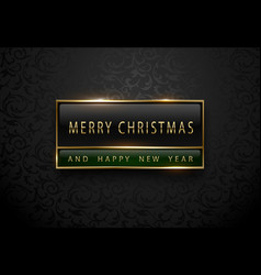 Merry chistmas and happy new year banner premium vector