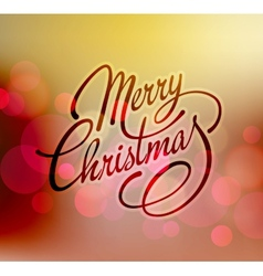 Merry Christmas Lettering Retro design vector image