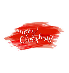 merry christmas sign vector image
