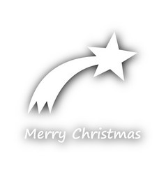 Merry christmas with comet on white vector