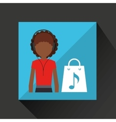 music phone icon vector image
