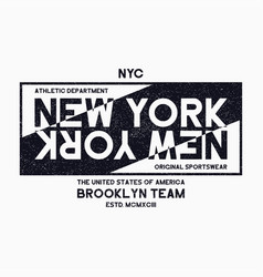 new york city brooklyn typography graphics vector image