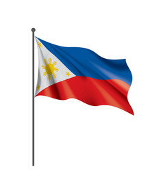 Philippines flag on a white vector