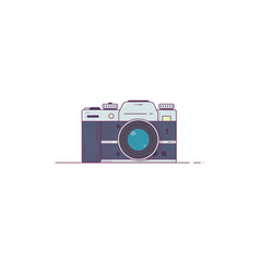photo camera line style vector image