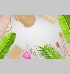 realistic eco hygiene composition vector image