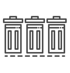 recycle bin icon outline style vector image