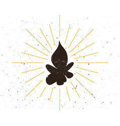 retro fire silhouette logo vector image
