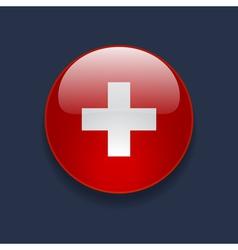 round icon with flag switzerland vector image