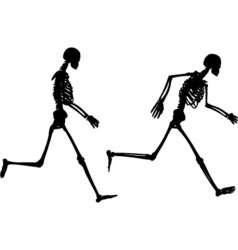Running skeletons vector