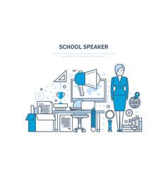 School speaker concept training education vector