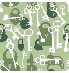 Seamless pattern with padlocks and keys vector image