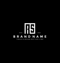 Set letter rs logo design vector