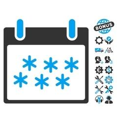Snow Calendar Day Icon With Bonus vector