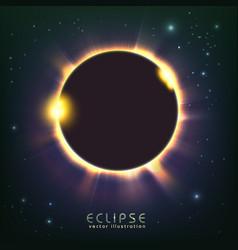 sun eclipse cosmic vector image