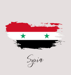 syria watercolor national country flag icon vector image