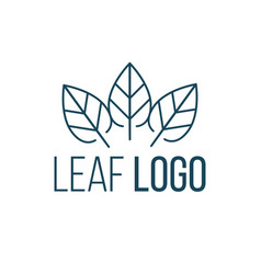 three leaves logo icon design landscape design vector image