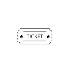 ticket icon black on white vector image