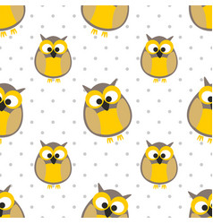 tile pattern with owls and dots vector image