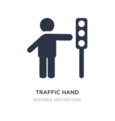 Traffic hand icon on white background simple vector