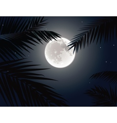 Tropical moon vector