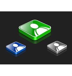 user icon set vector image