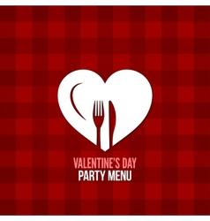 Valentines day menu food drink design background vector